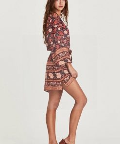 Hippie chic Herbst Kleid