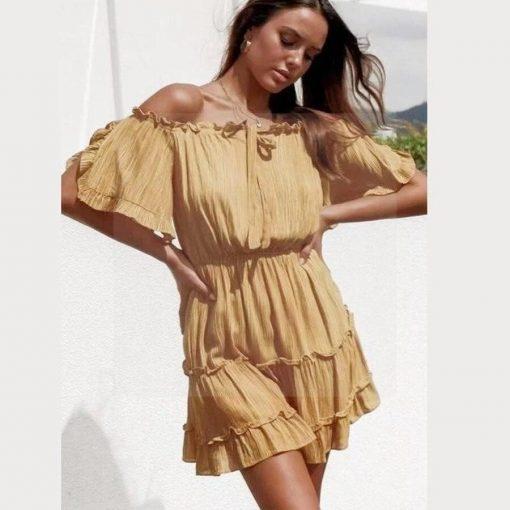 Gold Hippie Kleid